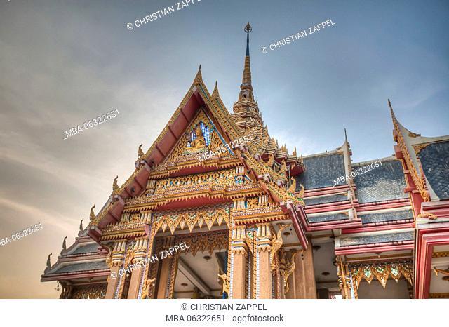 temple Wat Pom, crematorium, Samut Sakhon, Thailand, Asia