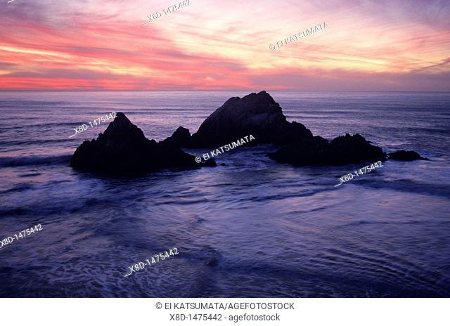 Twilight over Seal Rocks, San Francisco, California, United States of America