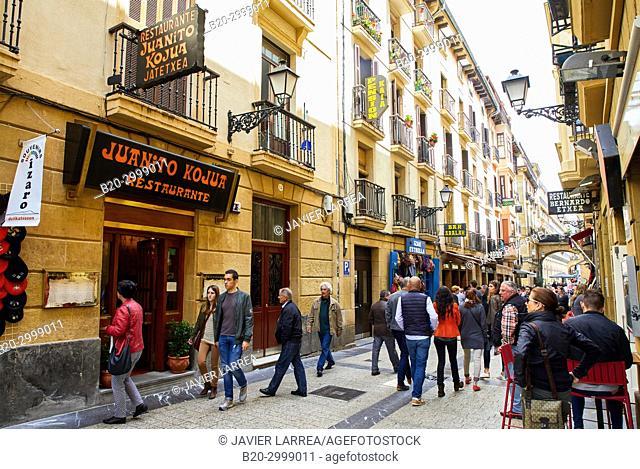 Restaurante Juanito Kojua, Portu Kalea, Calle Puerto, Parte Vieja, Old Town, Donostia, San Sebastian, Gipuzkoa, Basque Country, Spain