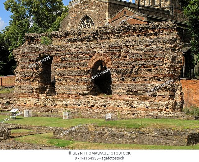 Jewry Wall, Leicester, Leicestershire, England
