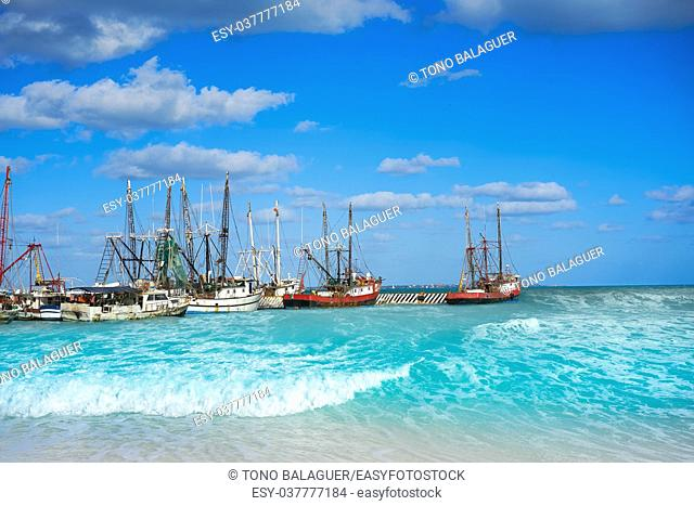 Cancun Puerto Juarez in Caribbean sea of Mexico