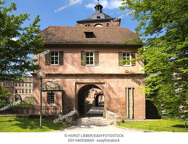 Bridge house at Heidelberg Castle-Heidelberg, Baden Wuerttemberg, Germany