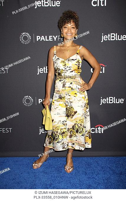 """Antonia Thomas  03/22/2017 PaleyFest 2018 """"""""The Good Doctor"""""""" held at The Dolby Theatre in Hollywood, CA Photo by Izumi Hasegawa / HNW / PictureLux"""