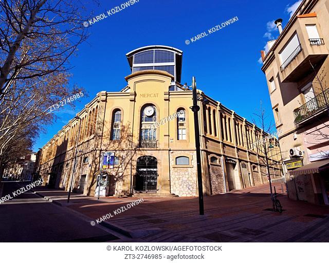 Spain, Catalonia, Barcelona Province, Terrassa, View of the Mercado de la Independencia.