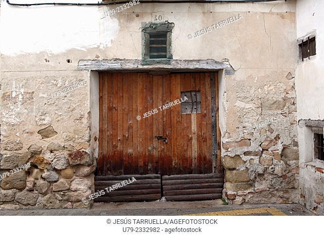 Old door. Cogolludo. Guadalajara. Madrid. Spain. Europe