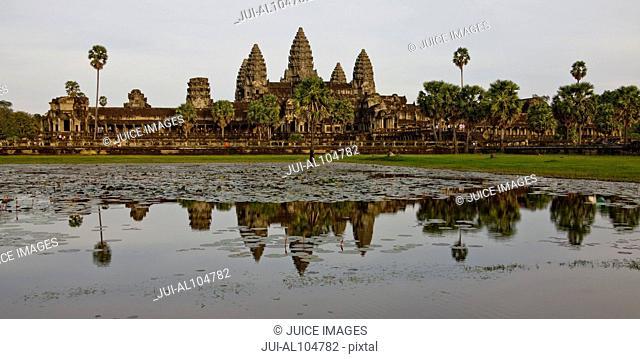Temple, Exterior of Angkor Wat, Angkor, Siem Reap, Cambodia