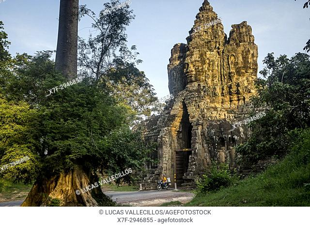 South Gate of Angkor Thom, Angkor, Siem Reap, Cambodia