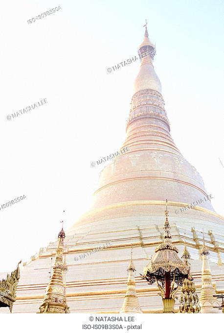 Ornate spired roof of Shwedagon Pagoda, Yangon, Burma