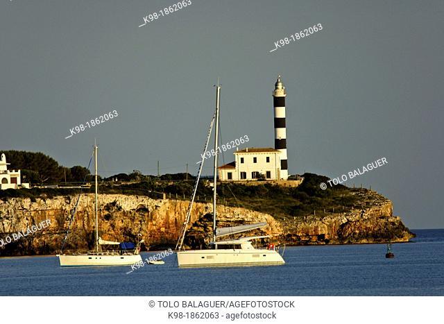 Porto Colom Lighthouse, 1861 Felanitx Mallorca Balearic Islands Spain