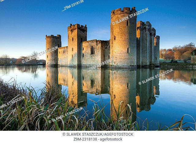 December morning at Bodiam Castle, East Sussex, England, United Kingdom