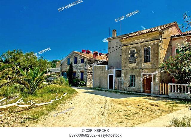 Old streets of Susak island