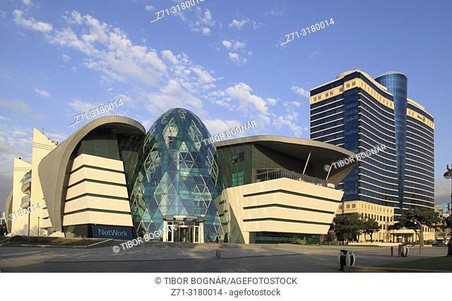 Azerbaijan, Baku, Park Bulvar Mall, Hilton Hotel,