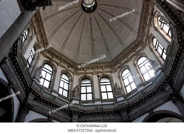 Venice, Basilica di Santa Maria della Salute, interior, dome