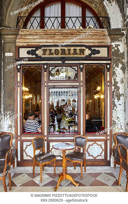 Traditional Florian coffee in Piazza San Marco, Venice, Italy