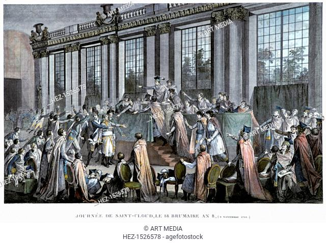 'The coup d'état of the 18th Brumaire (9th November), 1799', 19th century