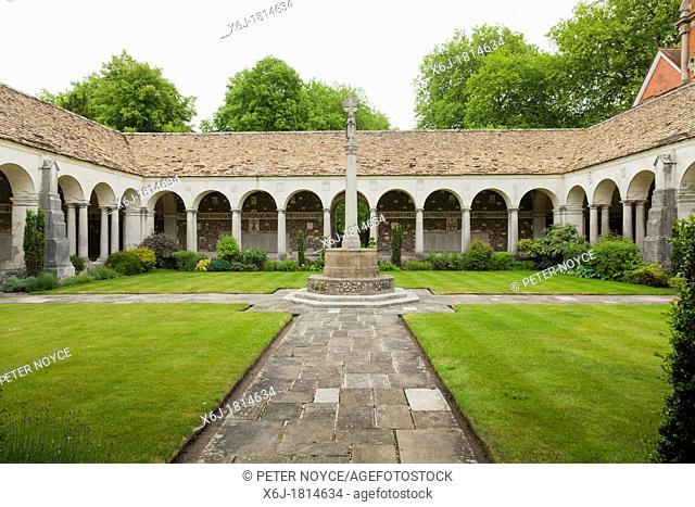 The war cloister at Winchester College designed by Sir Herbert Baker