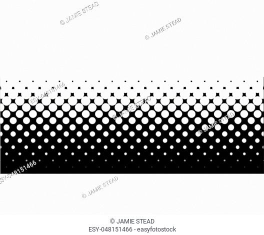 A half tone image with white dots set against a black background