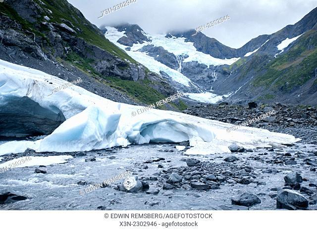 Byron Glacier in portage valley, Alaska
