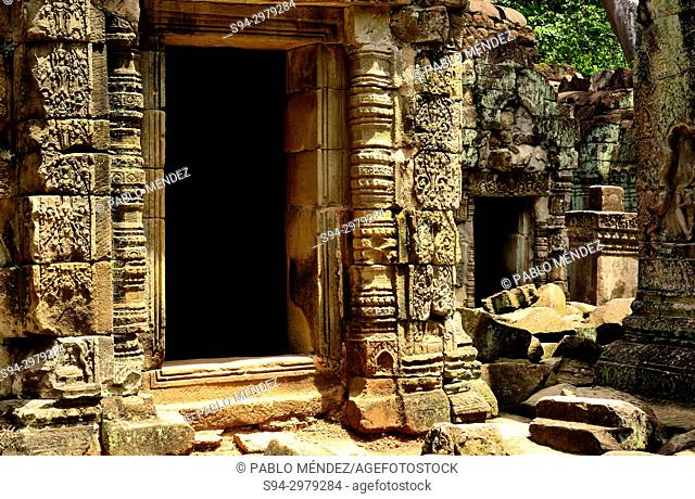 Small temple in Preah Khan temple, Angkor area, Siem Reap, Cambodia