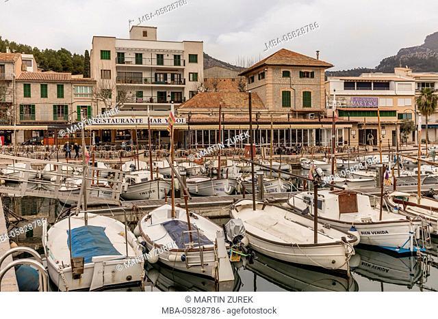 Harbour view, port de Soller, Majorca, Spain, the Balearic Islands, Balearic islands