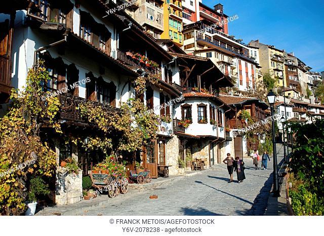Traditional houses in Veliko Tarnovo Old Town ( Bulgaria)