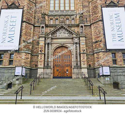 Nordiska Museet (Nordic Museum), Djurgarden, Stockholm, Sweden, Scandinavia. Cultural History museum founded by Artur Hazelius in the late 19th century