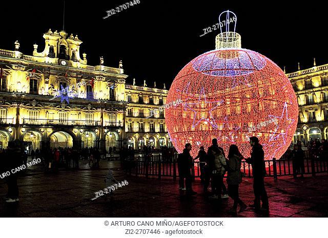 Main Square in Christmas. Salamanca, Spain