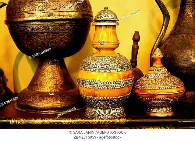 Souvenir carpet and jewelry antique shop, Jordan, Middle East