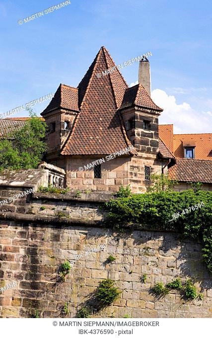 Mayor Tower, Neutormauer, Nuremberg, Middle Franconia, Franconia, Bavaria, Germany
