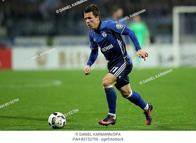 Yevhen Konoplyanka from FC Schalke 04 in action during the 2nd Round DFB Pokal soccer match between FC Nuernberg and FC Schalke 04 in the Grundig Stadium in...