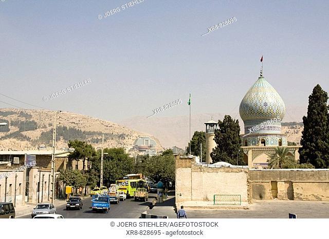 Iran, Shiraz, Mosque Hafezieh Street