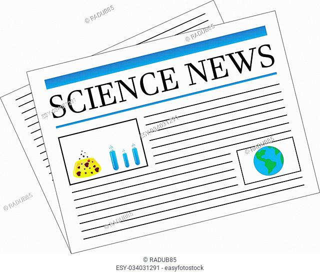 Science News Newspaper Headlines Vector Illustration