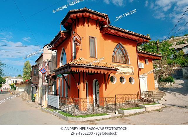 Historical corner house, Bakhchisaray Bakhchysarai, Crimea, Ukraine, Eastern Europe