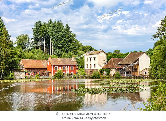 water mill, Burgundy, France
