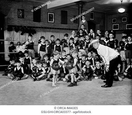 Navy Children Boxing, Harris & Ewing, 1933