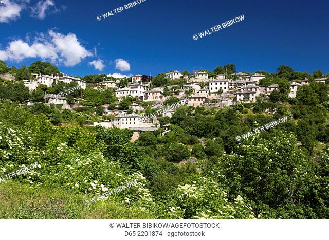 Greece, Epirus Region, Zagorohoria Area, Vikos Gorge, village of Vitsa