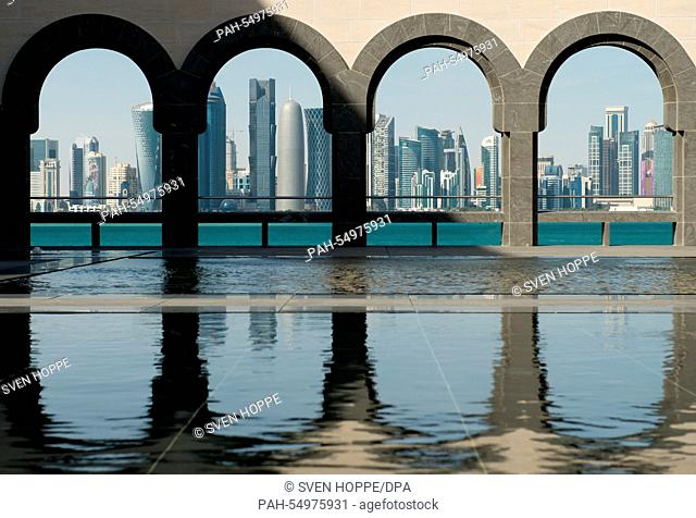 A general view of the West Bay skyline from The Museum of Islamic Art, Doha, Qatar, 12 January 2015. The Museum of Islamic Art shows highlights of the Qatar...