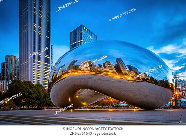 Cloud Gate is a public sculpture by Indian-born British artist Anish Kapoor, that is the centerpiece of AT&T Plaza at Millennium Park in the Loop community area...