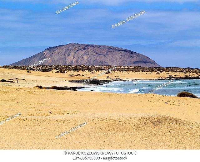 Graciosa Island - small island near Lanzarote Canary Islands, Spain