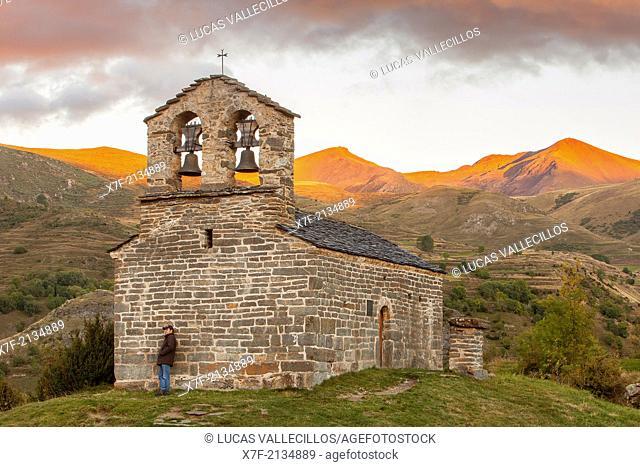 Sant Quirç hermitage.Romanesque chapel.Durro.Boí valley.Lleida province. Catalonia. Spain