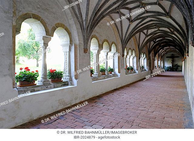 Cloister, former abbey of the Premonstratensian monks, Steingaden, Upper Bavaria, Bavaria, Germany, Europe