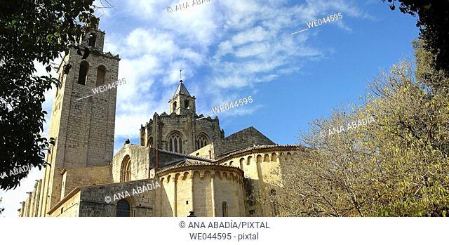 Monastery of Sant Cugat del Vallès. Barcelona province, Catalonia, Spain