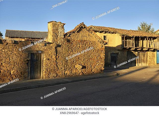 Construction in Adobe, Town of Villalverde, Province of Zamora, Castilla Y Leon, Spain, Europe