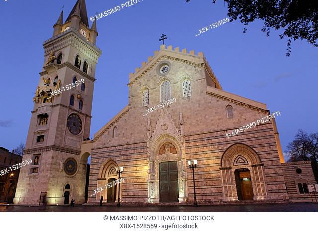 The cathedral of Messina, Sicily, Italy
