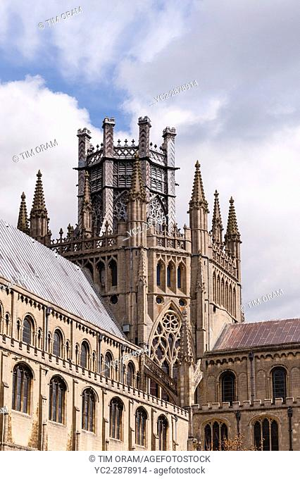 Ely Cathedral in Ely , Cambridgeshire , England , Britain , Uk
