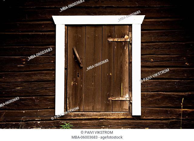 Wooden granary door