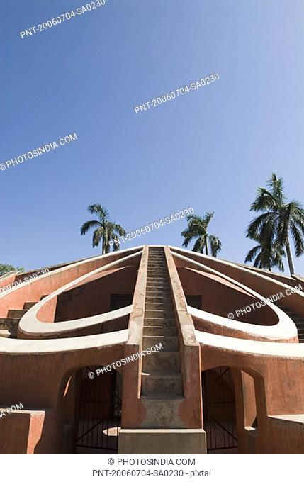 Facade of a building, Jantar Mantar, New Delhi, India