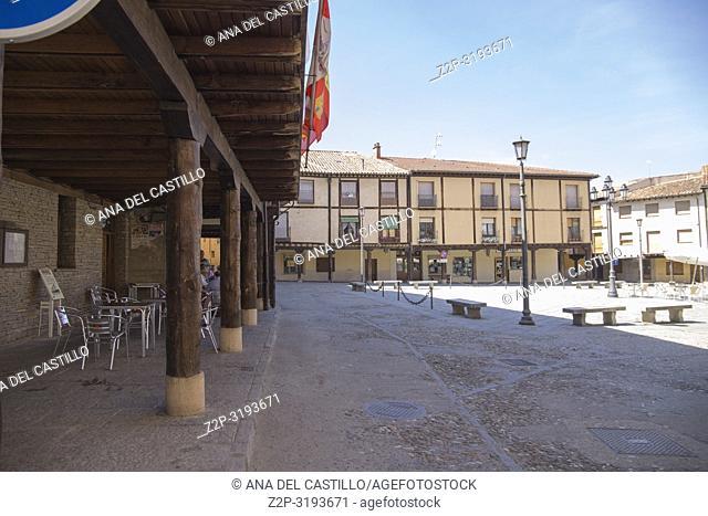 Berlanga de Duero, Soria, Castile-Leon, in the Spanish meseta on June 10, 2017. The main square