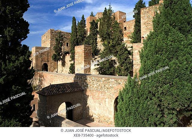 Moorish 'alcazaba', Malaga. Andalucia, Spain