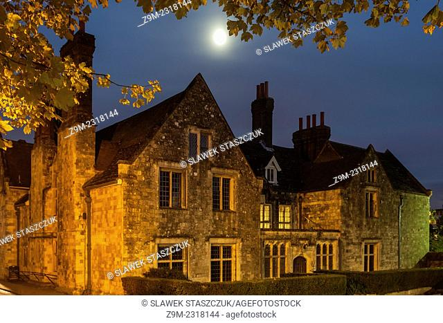 November evening at Southover Grange in Lewes, East Sussex, England, United Kingdom